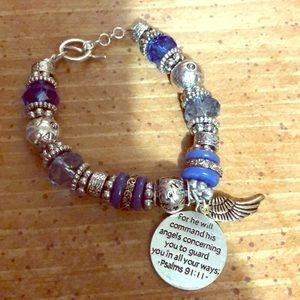 Jewelry - Religious bracelet blue and silver